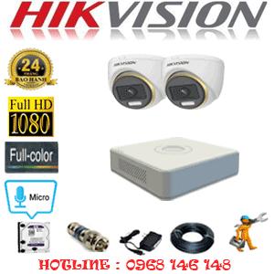 Lắp Đặt Trọn Bộ 2 Camera Hikvision 2.0Mp (Hik-224100)-HIK-224100