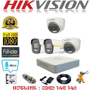 Lắp Đặt Trọn Bộ 4 Camera Hikvision 2.0Mp (Hik-2241242)-HIK-2241242