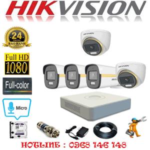 Lắp Đặt Trọn Bộ 5 Camera Hikvision 2.0Mp (Hik-2241342)-HIK-2241342