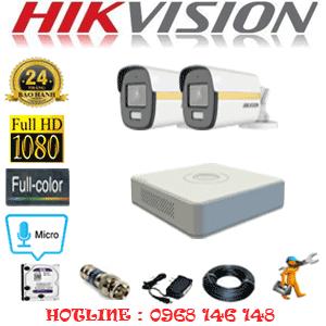 Lắp Đặt Trọn Bộ 2 Camera Hikvision 2.0Mp (Hik-224200)-HIK-224200