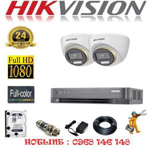 Lắp Đặt Trọn Bộ 2 Camera Hikvision 2.0Mp (Hik-224300)-HIK-224300