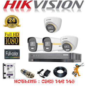 Lắp Đặt Trọn Bộ 4 Camera Hikvision 2.0Mp (Hik-2243244)-HIK-2243244