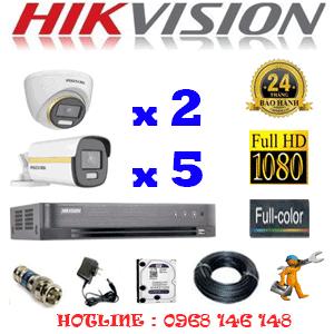 Lắp Đặt Trọn Bộ 7 Camera Hikvision 2.0Mp (Hik-2243544)-HIK-2243544