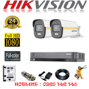 Lắp Đặt Trọn Bộ 2 Camera Hikvision 2.0Mp (Hik-224400)-HIK-224400