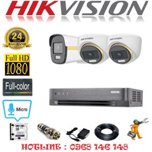 Lắp Đặt Trọn Bộ 3 Camera Hikvision 2.0Mp (Hik-2245146)-HIK-2245146