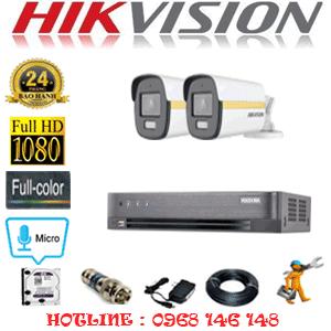 Lắp Đặt Trọn Bộ 2 Camera Hikvision 2.0Mp (Hik-224600)-HIK-224600