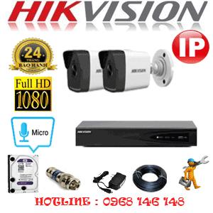 Lắp Đặt Trọn Bộ 2 Camera Ip Hikvision 2.0Mp (Hik-225000)-HIK-225000