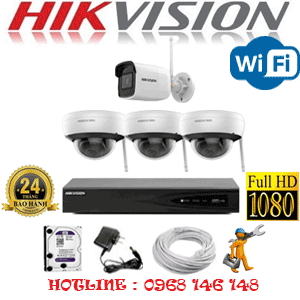 Lắp Đặt Trọn Bộ 4 Camera Wifi Hikvision 2.0Mp (Hik-2315116)-HIK-2315116