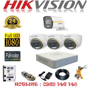 Lắp Đặt Trọn Bộ 4 Camera Hikvision 2.0Mp (Hik-2339140)-HIK-2339140