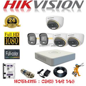 Lắp Đặt Trọn Bộ 5 Camera Hikvision 2.0Mp (Hik-2339240)-HIK-2339240