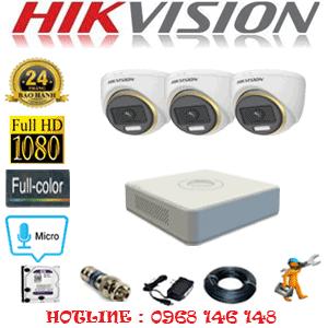 Lắp Đặt Trọn Bộ 3 Camera Hikvision 2.0Mp (Hik-234100)-HIK-234100