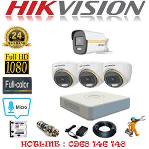 Lắp Đặt Trọn Bộ 4 Camera Hikvision 2.0Mp (Hik-2341142)-HIK-2341142