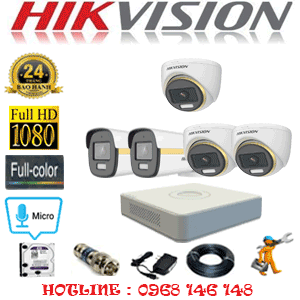 Lắp Đặt Trọn Bộ 5 Camera Hikvision 2.0Mp (Hik-2341242)-HIK-2341242