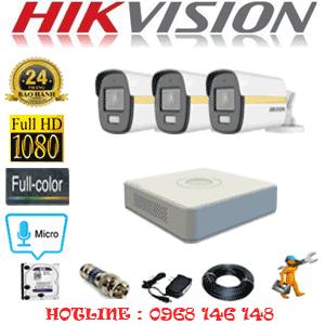 Lắp Đặt Trọn Bộ 3 Camera Hikvision 2.0Mp (Hik-234200)-HIK-234200