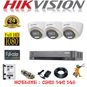 Lắp Đặt Trọn Bộ 3 Camera Hikvision 2.0Mp (Hik-234300)-HIK-234300