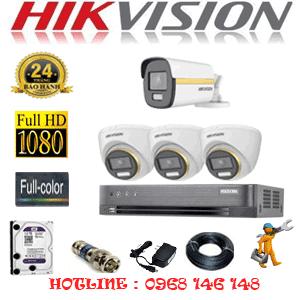 Lắp Đặt Trọn Bộ 4 Camera Hikvision 2.0Mp (Hik-2343144)-HIK-2343144