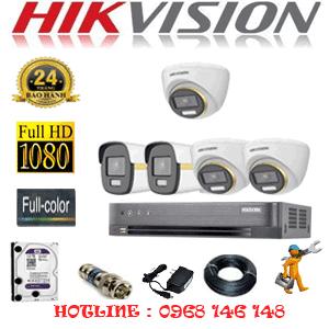 Lắp Đặt Trọn Bộ 5 Camera Hikvision 2.0Mp (Hik-2343244)-HIK-2343244
