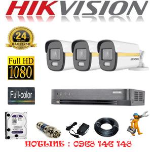 Lắp Đặt Trọn Bộ 3 Camera Hikvision 2.0Mp (Hik-234400)-HIK-234400