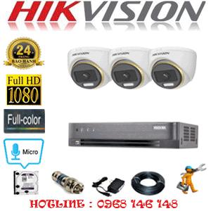 Lắp Đặt Trọn Bộ 3 Camera Hikvision 2.0Mp (Hik-234500)-HIK-234500