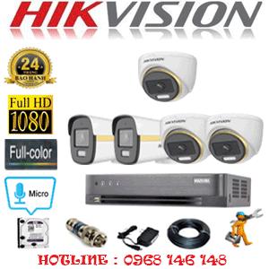 Lắp Đặt Trọn Bộ 5 Camera Hikvision 2.0Mp (Hik-2345246)-HIK-2345246