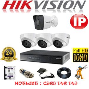 Lắp Đặt Trọn Bộ 4 Camera Ip Hikvision 2.0Mp (Hik-2347148)-HIK-2347148