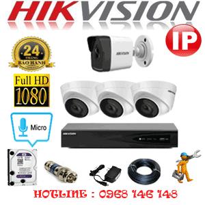 Lắp Đặt Trọn Bộ 4 Camera Ip Hikvision 2.0Mp (Hik-2349150)-HIK-2349150