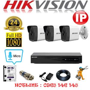 Lắp Đặt Trọn Bộ 3 Camera Ip Hikvision 2.0Mp (Hik-235000)-HIK-235000