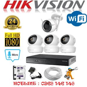 Lắp Đặt Trọn Bộ 4 Camera Wifi Hikvision 2.0Mp (Hik-2351152)-HIK-2351152