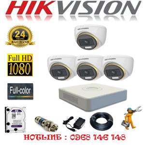 Lắp Đặt Trọn Bộ 4 Camera Hikvision 2.0Mp (Hik-243900)-HIK-243900