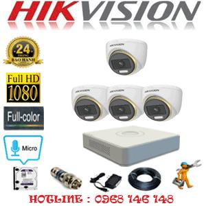 Lắp Đặt Trọn Bộ 4 Camera Hikvision 2.0Mp (Hik-244100)-HIK-244100