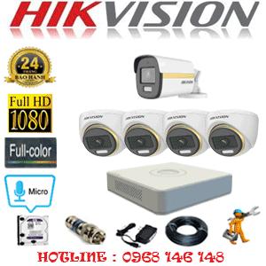 Lắp Đặt Trọn Bộ 5 Camera Hikvision 2.0Mp (Hik-2441142)-HIK-2441142