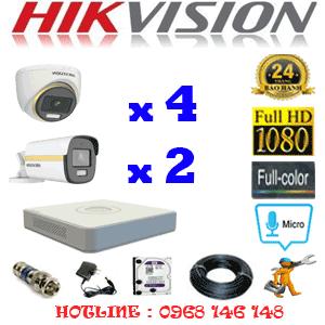 Lắp Đặt Trọn Bộ 6 Camera Hikvision 2.0Mp (Hik-2441242)-HIK-2441242