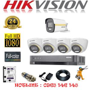 Lắp Đặt Trọn Bộ 5 Camera Hikvision 2.0Mp (Hik-2443144)-HIK-2443144