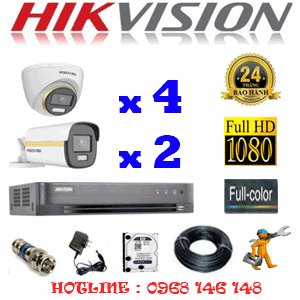 Lắp Đặt Trọn Bộ 6 Camera Hikvision 2.0Mp (Hik-2443244)-HIK-2443244