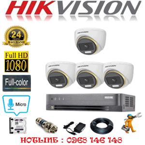 Lắp Đặt Trọn Bộ 4 Camera Hikvision 2.0Mp (Hik-244500)-HIK-244500
