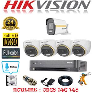 Lắp Đặt Trọn Bộ 5 Camera Hikvision 2.0Mp (Hik-2445146)-HIK-2445146