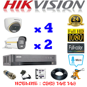 Lắp Đặt Trọn Bộ 6 Camera Hikvision 2.0Mp (Hik-2445246)-HIK-2445246