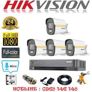 Lắp Đặt Trọn Bộ 4 Camera Hikvision 2.0Mp (Hik-244600)-HIK-244600
