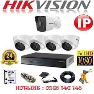 Lắp Đặt Trọn Bộ 5 Camera Ip Hikvision 2.0Mp (Hik-2447148)-HIK-2447148