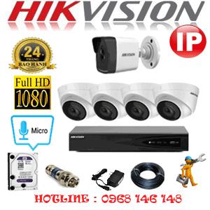 Lắp Đặt Trọn Bộ 5 Camera Ip Hikvision 2.0Mp (Hik-2449150)-HIK-2449150