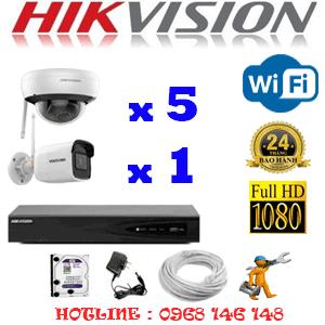 Lắp Đặt Trọn Bộ 6 Camera Wifi Hikvision 2.0Mp (Hik-2515116)-HIK-2515116