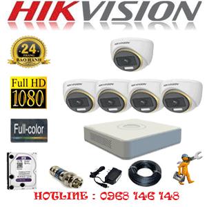 Lắp Đặt Trọn Bộ 5 Camera Hikvision 2.0Mp (Hik-253900)-HIK-253900
