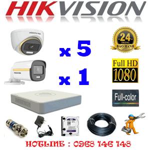 Lắp Đặt Trọn Bộ 6 Camera Hikvision 2.0Mp (Hik-2539140)-HIK-2539140