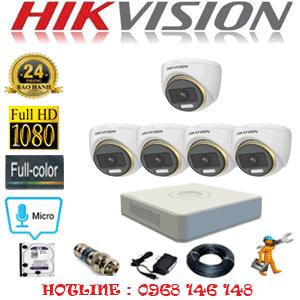 Lắp Đặt Trọn Bộ 5 Camera Hikvision 2.0Mp (Hik-254100)-HIK-254100