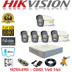 Lắp Đặt Trọn Bộ 5 Camera Hikvision 2.0Mp (Hik-254200)-HIK-254200