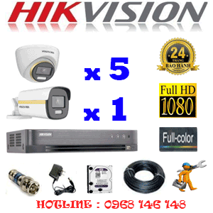 Lắp Đặt Trọn Bộ 6 Camera Hikvision 2.0Mp (Hik-2543144)-HIK-2543144
