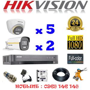 Lắp Đặt Trọn Bộ 7 Camera Hikvision 2.0Mp (Hik-2543244)-HIK-2543244