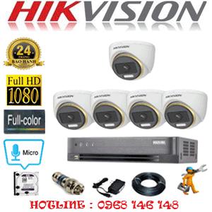 Lắp Đặt Trọn Bộ 5 Camera Hikvision 2.0Mp (Hik-254500)-HIK-254500