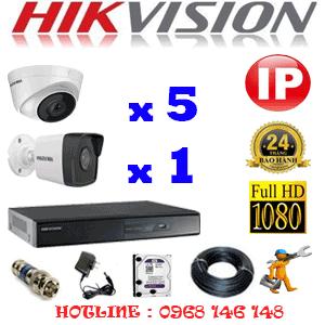Lắp Đặt Trọn Bộ 6 Camera Ip Hikvision 2.0Mp (Hik-2547148)-HIK-2547148