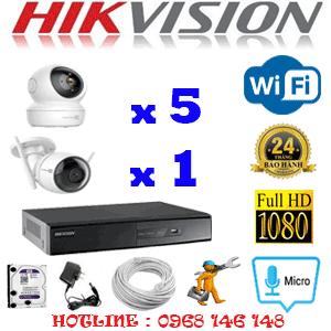 Lắp Đặt Trọn Bộ 6 Camera Wifi Hikvision 2.0Mp (Hik-2551152)-HIK-2551152